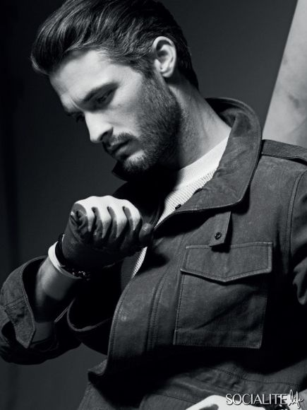 I'm very much a facial hair guy, although clean shaven is nice, I can't grow a full beard myself, so when I see a nice one it always catches my eye. Nice look aswell.