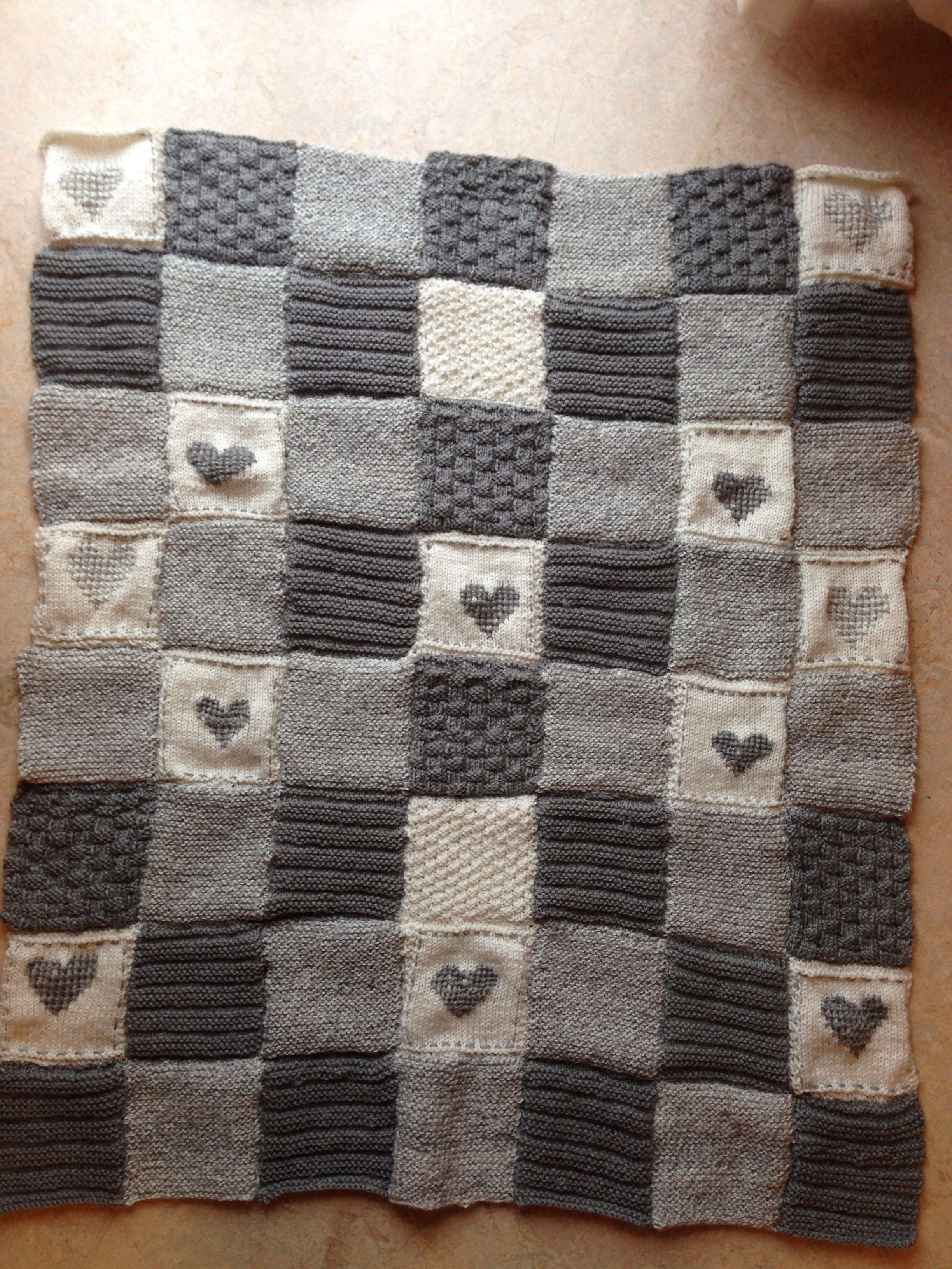 Gebreide quilt