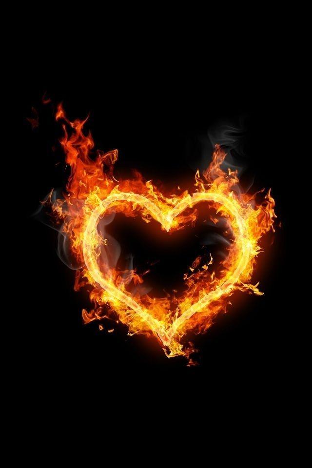 Flaming Heart Fire Heart Fire Image Fire Tattoo