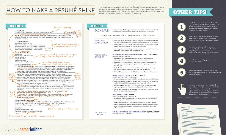 How To Make A Résumé Shine Infographic Get A Job