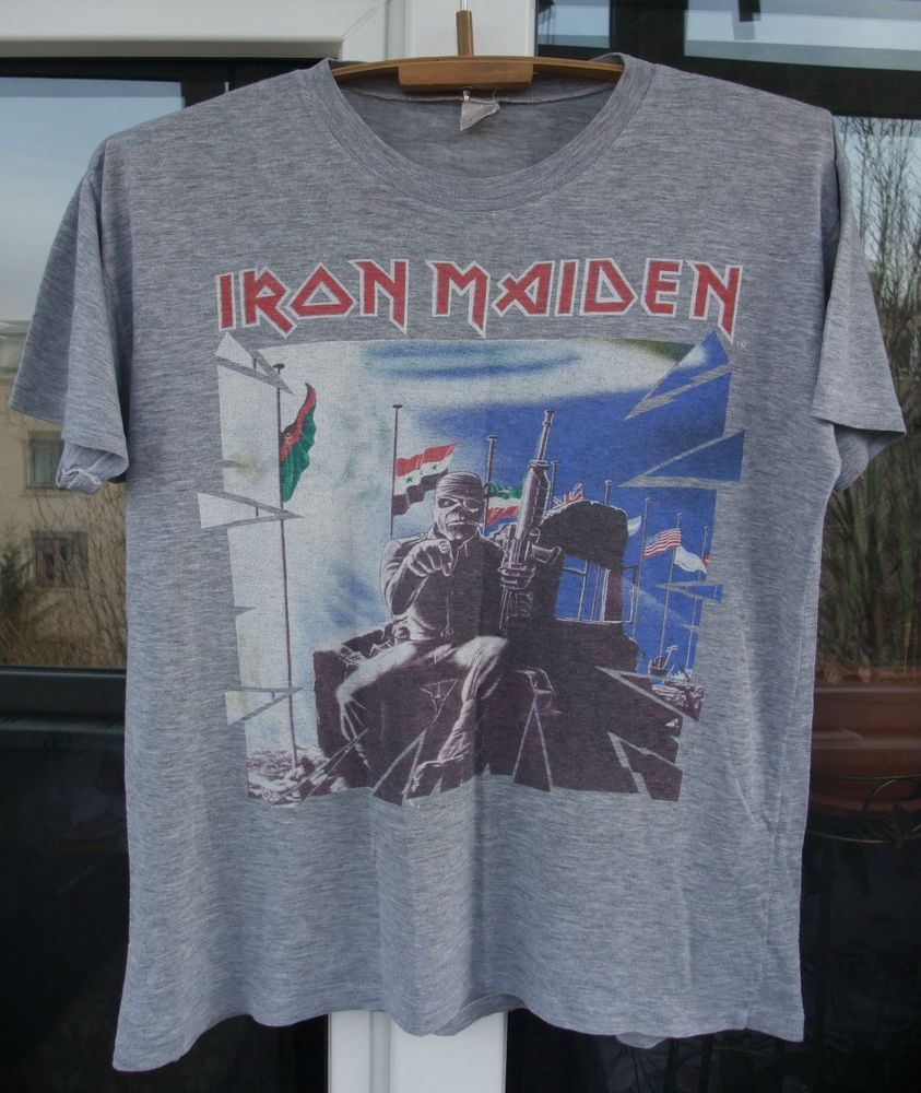 ee07e5237 RaRe vintage Iron Maiden 2 Minutes To Midnight Powerslave t-shirt World  tour  Unbranded  GraphicTee