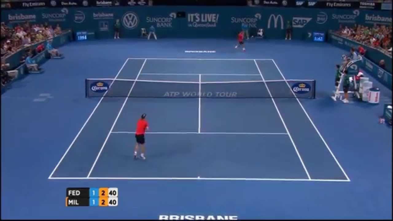 Roger Federer vs John Millman - Brisbane 2015 - IMPOSSIBLE SHOT - FULL H...