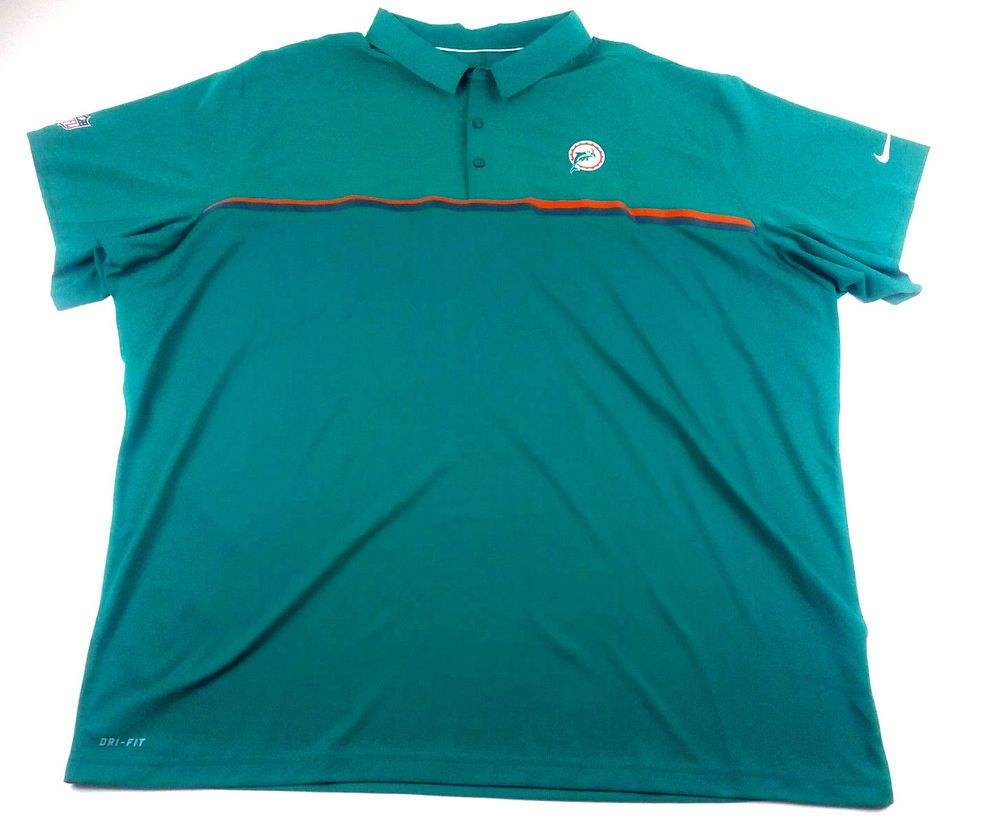 TERRELL WILIAMS NFL MIAMI DOLPHINS SIZE 4 XL POLO SHIRT COACH ISSUED   ShirtsTops b5d46ca50