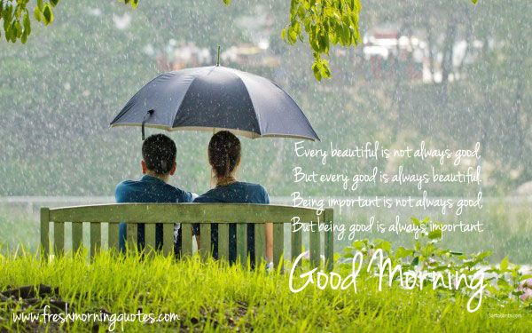 Good Morning Rainy Images: 20 Beautiful Good Morning Images With Love Couple