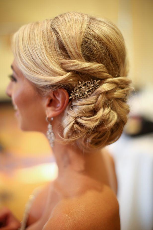 wedding updo hairstyle; photo: Melissa McClure Photography via Belle the Magazine