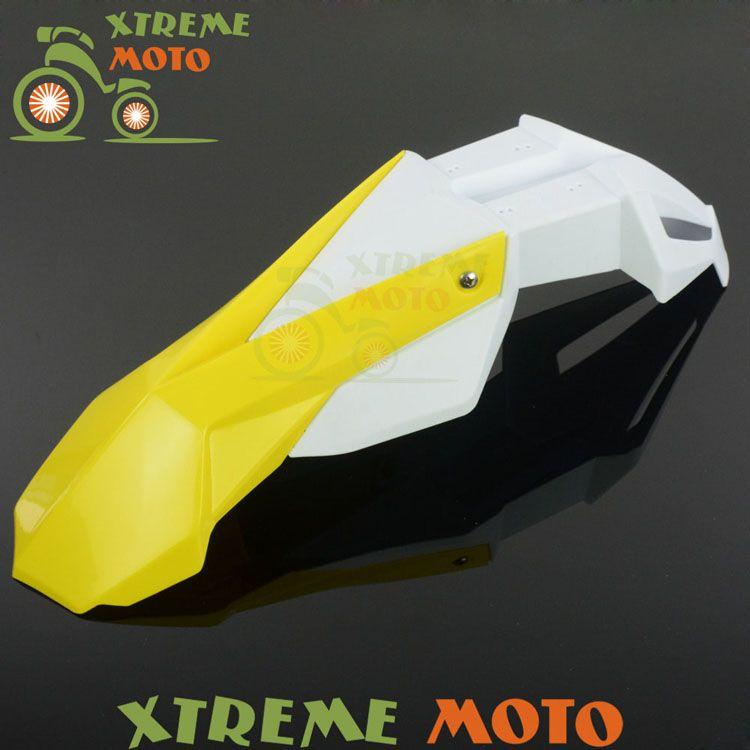 Yellow White Front Fender Mudguard For Suzuki Rm85 Rm125 Rm250 Rmz250 Rmz450 Rmx250 Dr250 Drz400 Motocross Enduro Di Dirt Bike Motocross Motorcycle Accessories