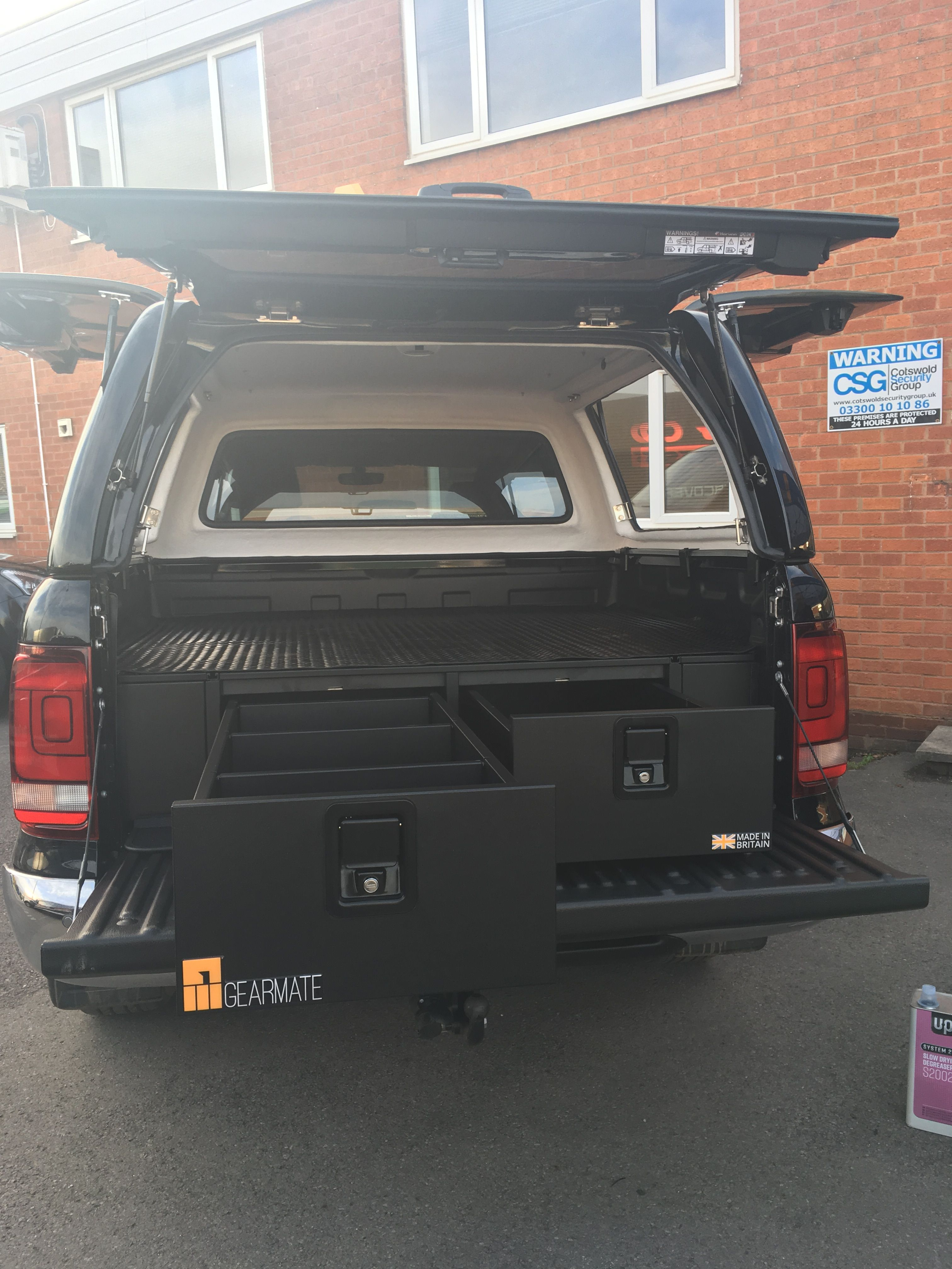 Volkswagen Amarok Fitted With Gearmate 300mm Twin Drawers Infill