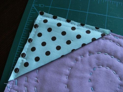 to use for hanging - sew on before binding..