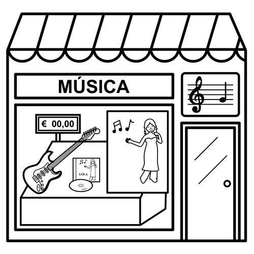 Dibujos De Tiendas Para Colorear Tienda Dibujo Tiendas Fichas