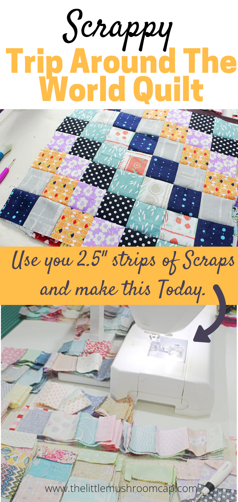 W I P Scrappy Trip Around The World Quilt With Images Scrappy Quilt Patterns Quilt Patterns Quilts