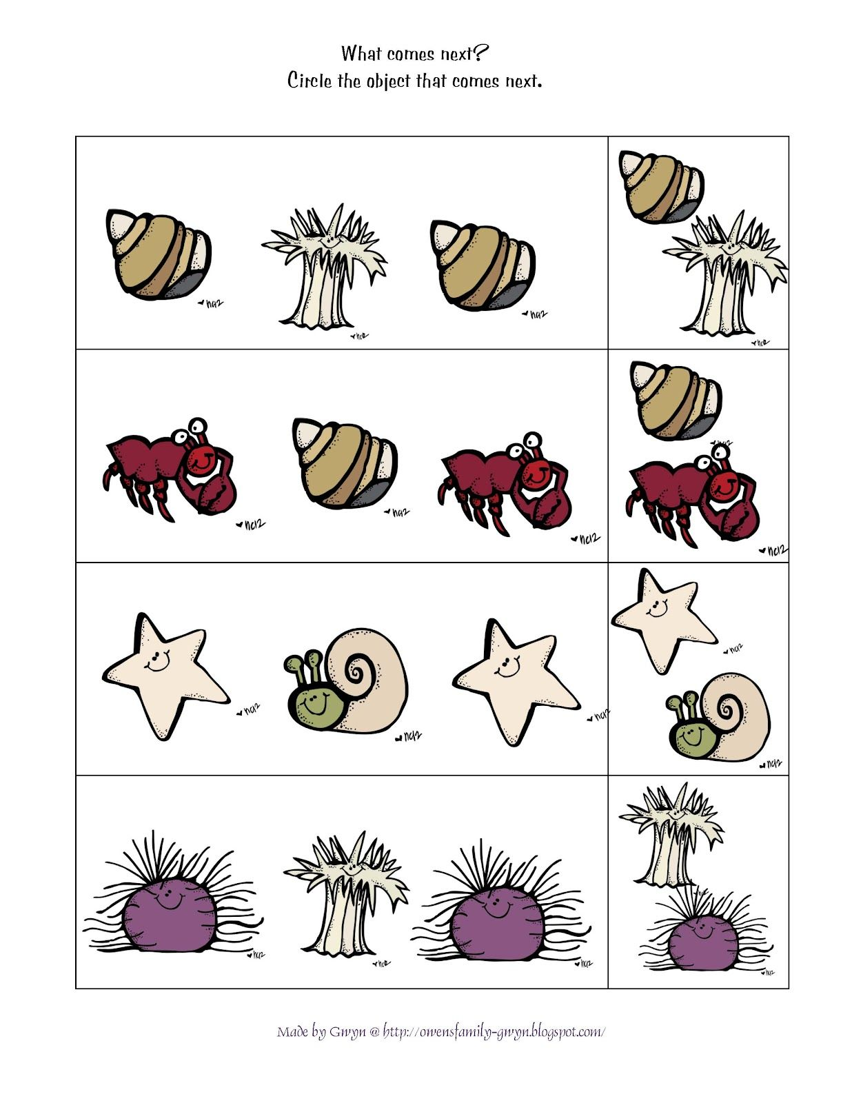 Crab Worksheet Preschool