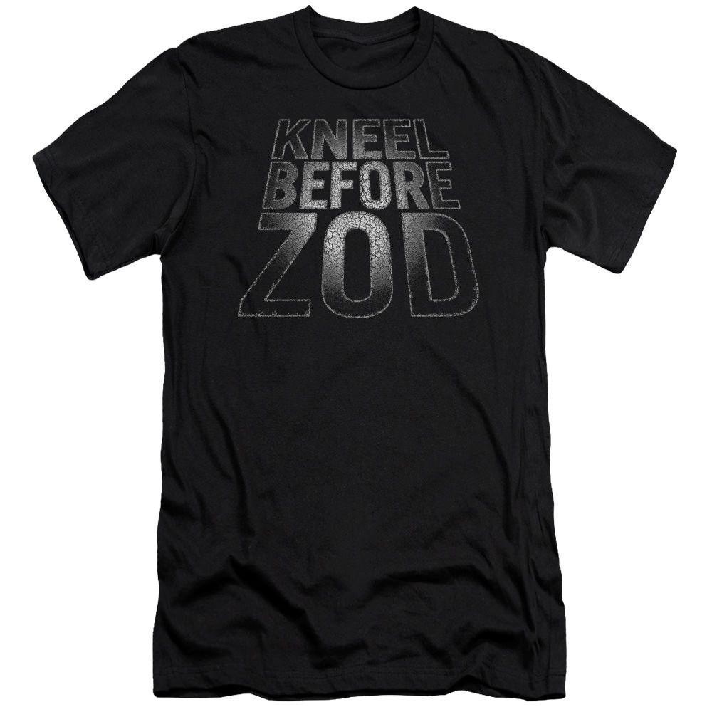 Superman Before Zod Black Fine Jersey T-Shirt