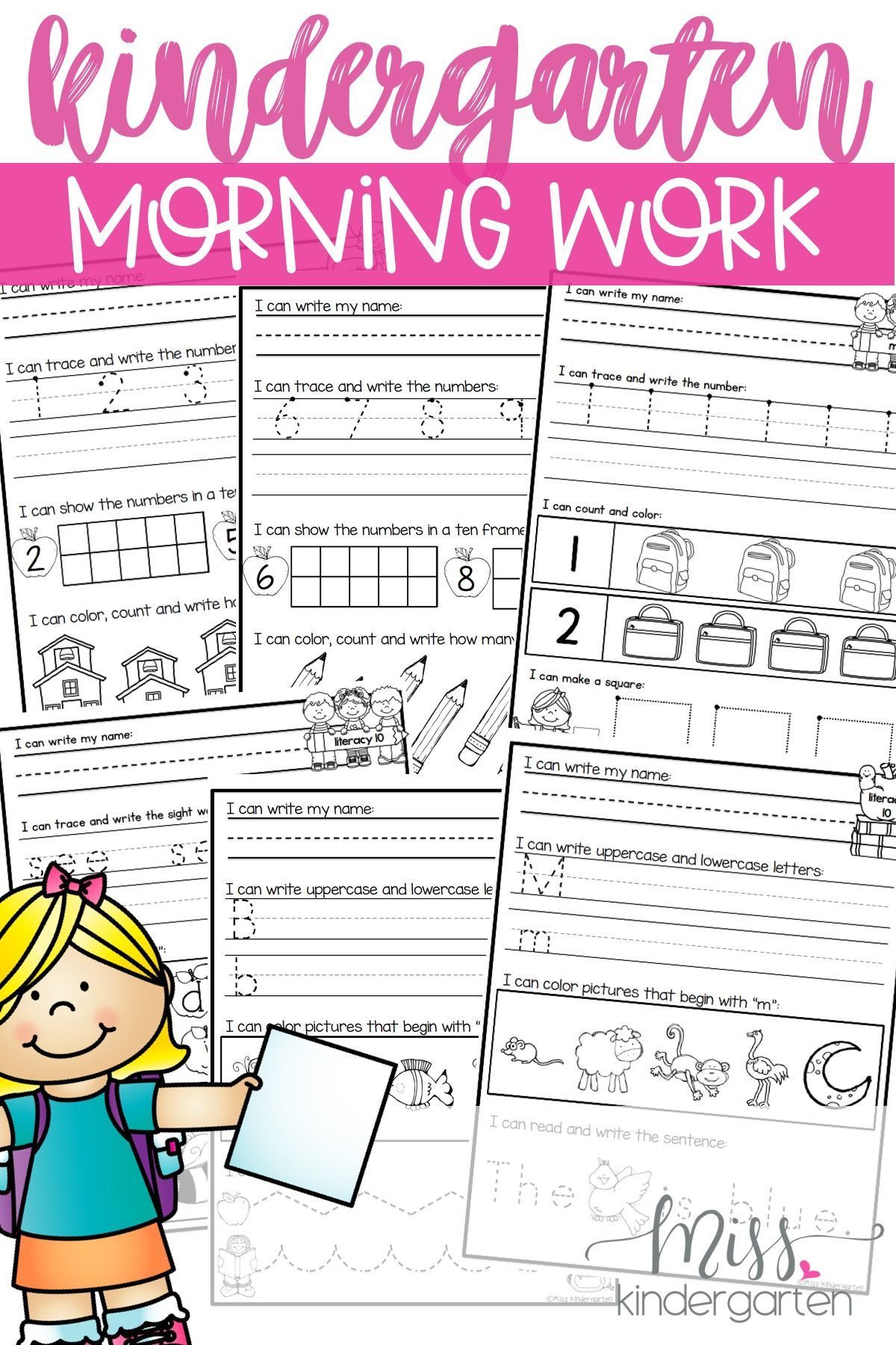 Kindergarten Morning Work Year Long Bundle