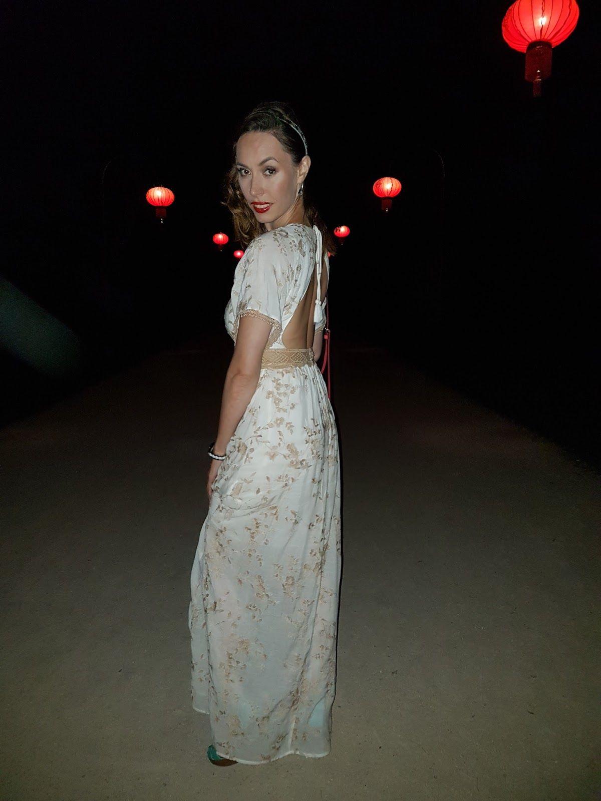 59d0593abd9 Długa, biała sukienka, elegancja w stylu boho.koronki, White maxi dress,  elegant boho style, laces, floral embroidery