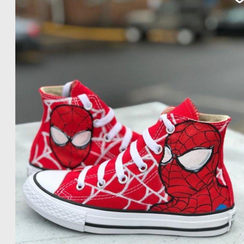 Marvel shoes, Kids converse shoes, Kids