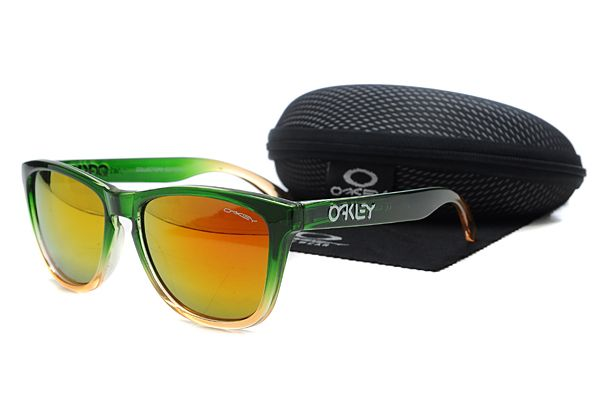 orange oakleys  $10.99 Deep Discount Oakley Frogskins Sunglasses Gradient Green ...
