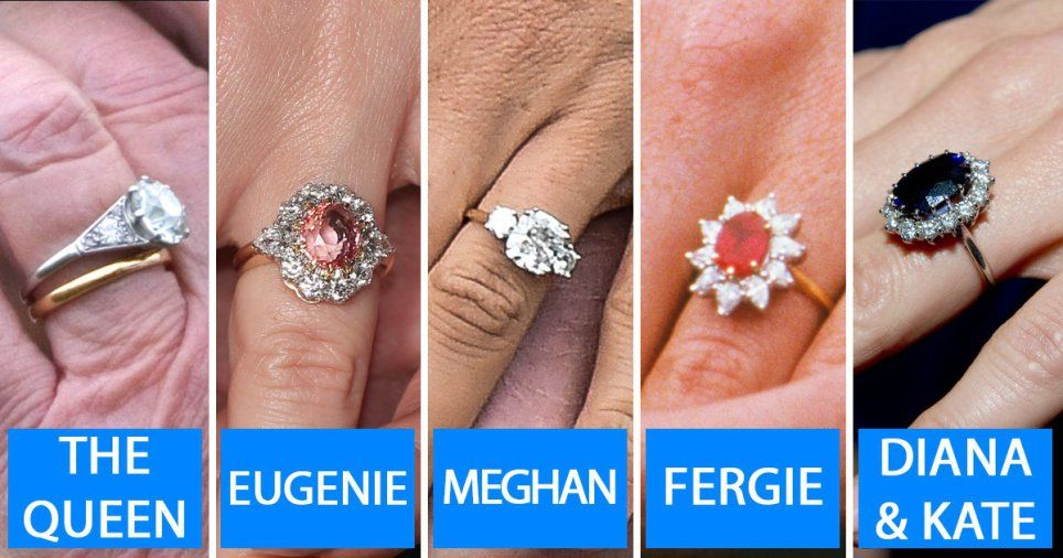 Meghan Kate Eugenie And The Queen Royal Engagement Ring Values