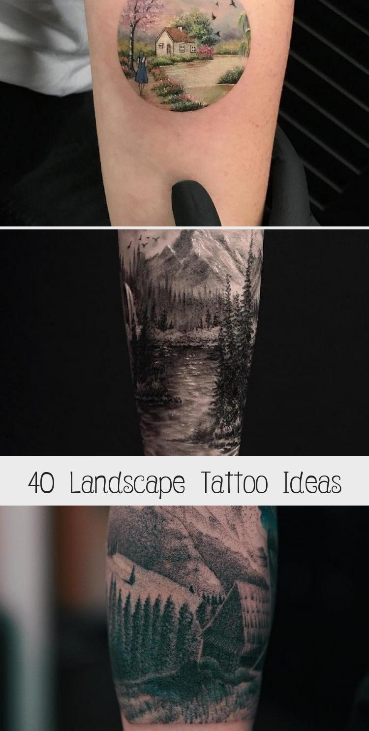 Photo of Idées de tatouage de paysage #ArtTattooWatercolor #ArtTattooArm #SurrealArtTattoo #Ita …
