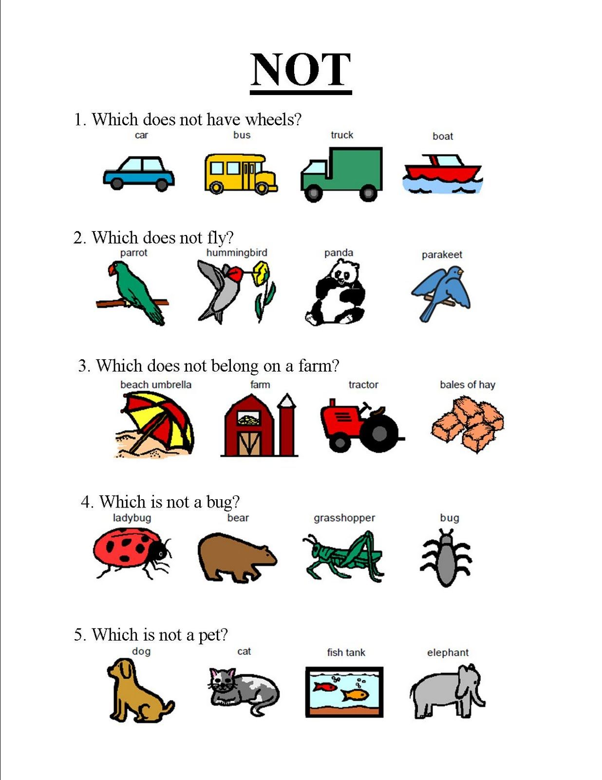 Fall Articulation Worksheet