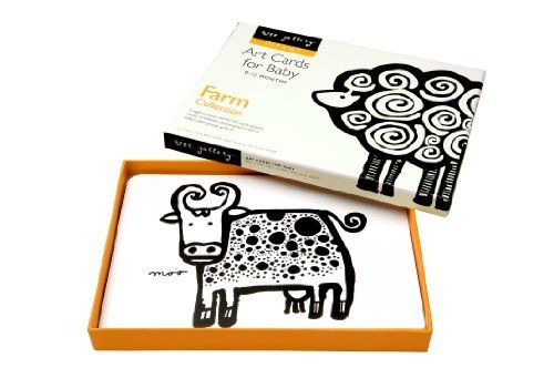 Wee Gallery Art Cards for Baby, Farm Collection by Wee Gallery. $12.95. Wee Gallery art cards are created from bold, whimsical, hand-painted originals that cater to a baby's visual strengths. The black and white images and their repeating patterns captivate little ones. Place them in the crib to transform it into a wee gallery or use them as flash cards for older children. A boxed set includes a bee, cow, hen, sheep, pig and horse. Printed on sturdy board these cards will...