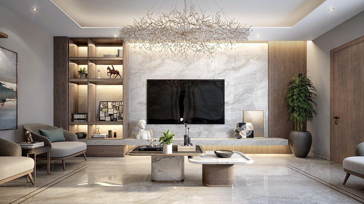 Ksa Living Room On Behance Living Room Design Decor Tv Room Design Luxury Living Room Design