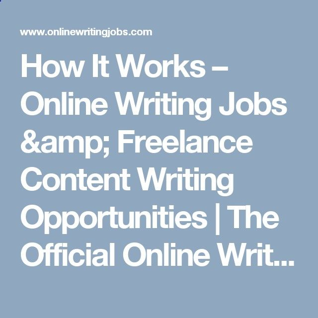 how it works online writing jobs amp lance content writing  how it works online writing jobs amp lance content writing opportunities the official