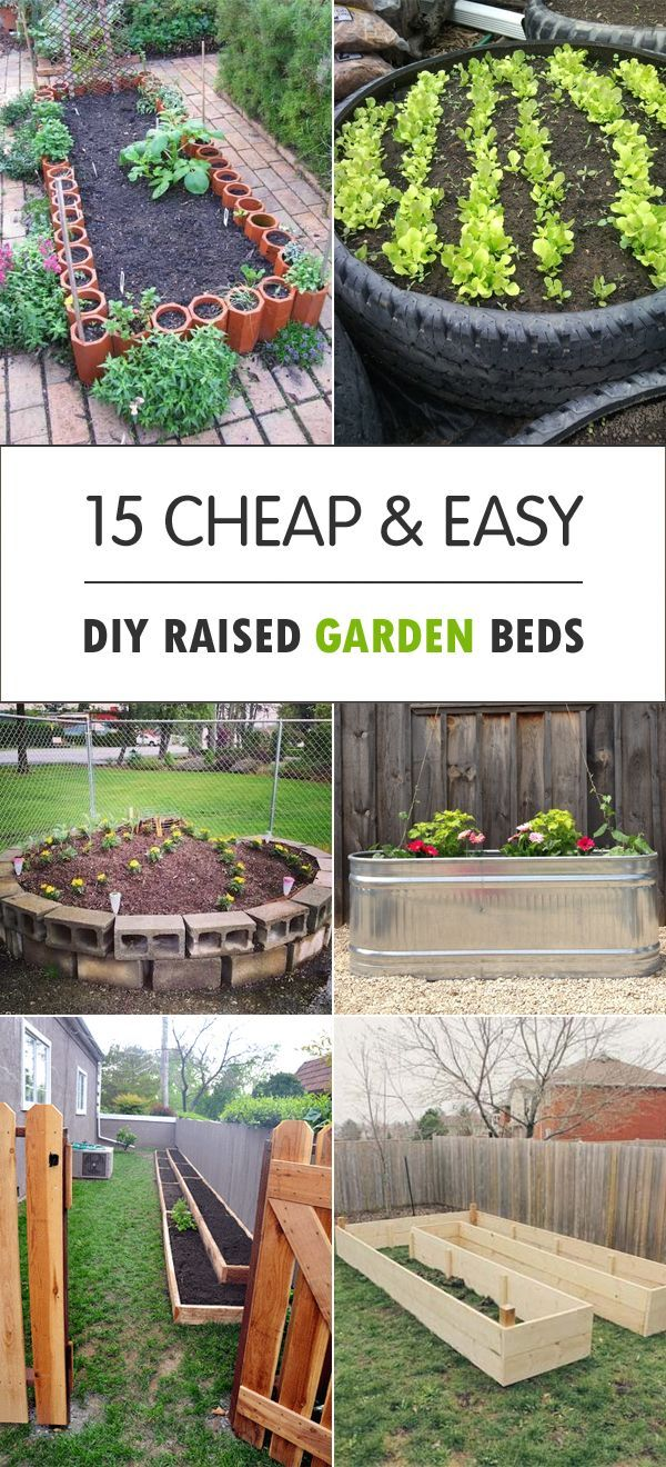 15 cheap & easy diy raised garden beds | raising, backyard and gardens