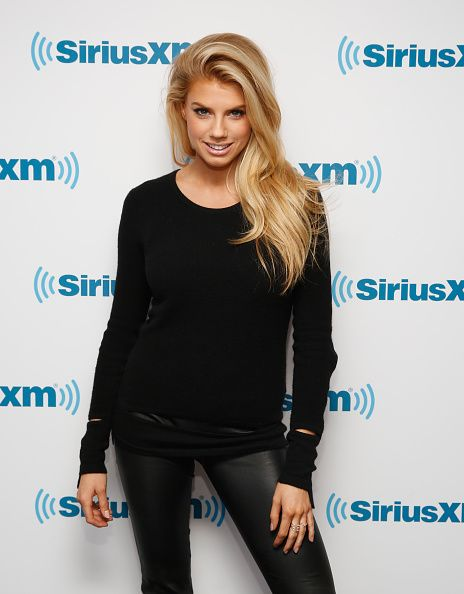 Charlotte Mckinney visits at SiriusXM Studios on February 6, 2015 in New York City