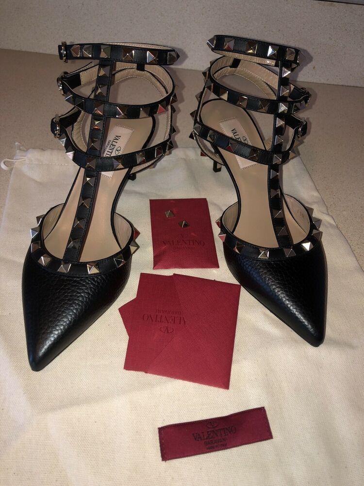 e0fda19e85c53 NWB Authentic Valentino valentino Garavani Rockstud Caged 65mm Pump Deep  Denim #fashion #clothing #