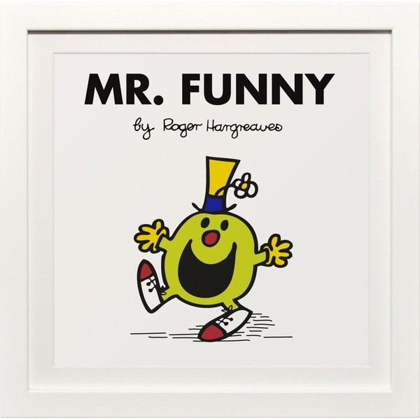 ART YOU GREW UP WITH Mr Funny classic framed print ($53) ❤ liked on