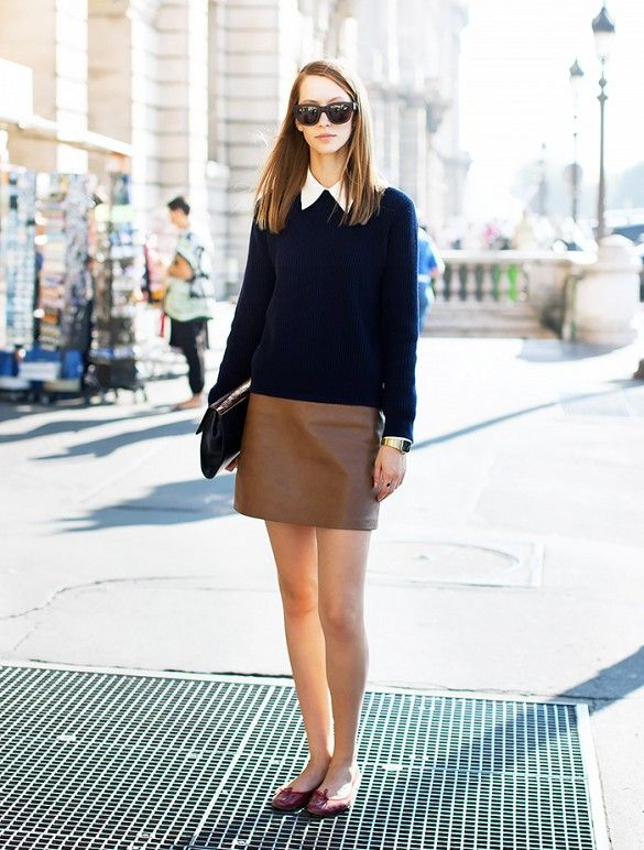 What are some foolproof ways to wear flats at the office? via @WhoWhatWear