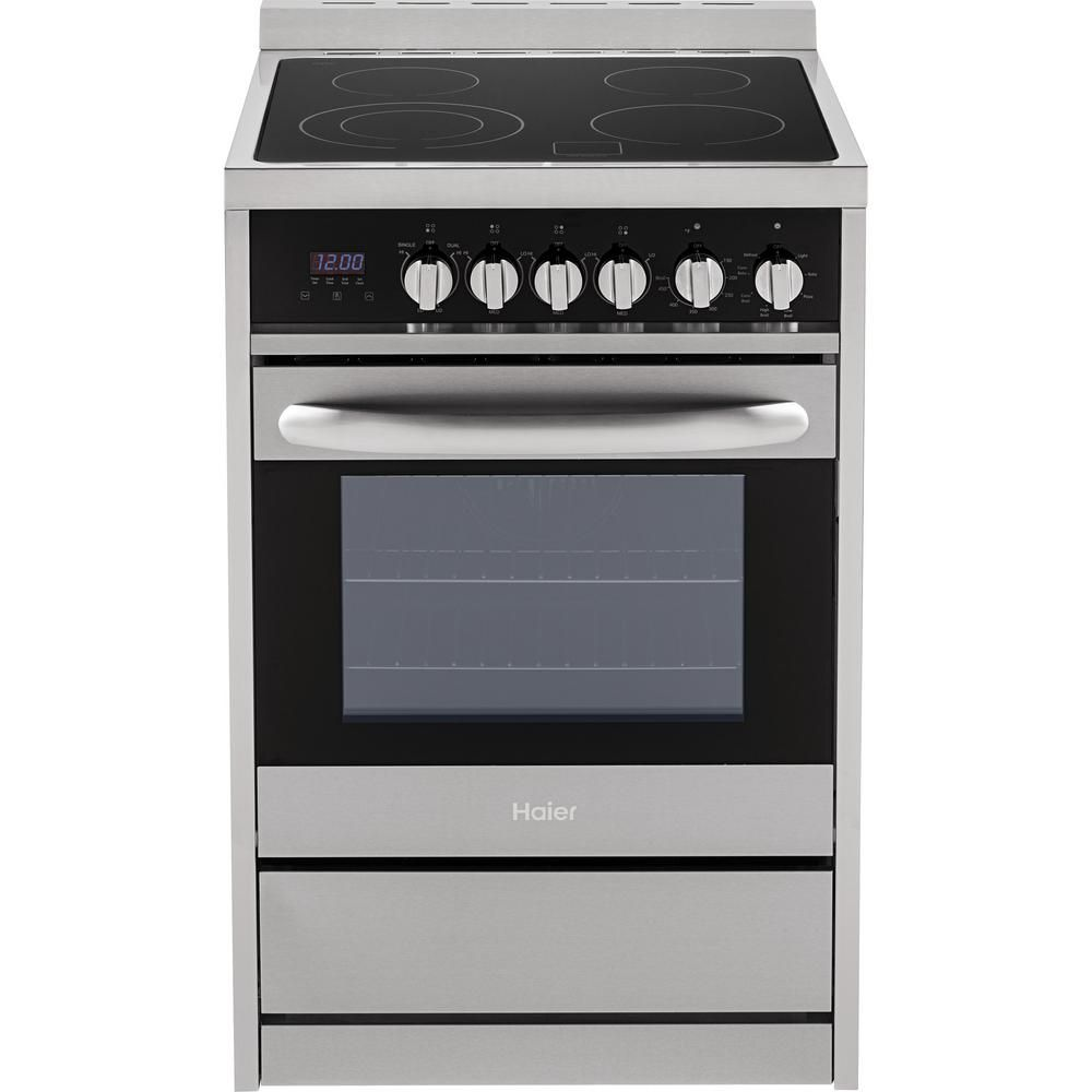 Single Oven Electric Range In Stainless Hcr2250aes The Home Depot