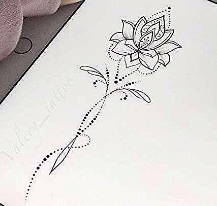 30 trendige Blumen Zeichnung Design Tattoo Lotus Mandala - #blumen #design #lotus #mandala #tattoo #trendige #zeichnung