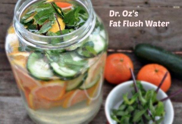 Dr Oz Fat Flush Water 2 Week Diet, Water Recipes, Fat Loss Diet,