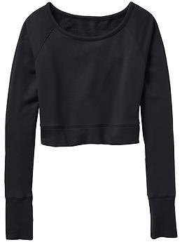 Studio Crop Sweatshirt - Utterly soft French terry makes the perfect throw-on-and-go addition to your studio wardrobe.
