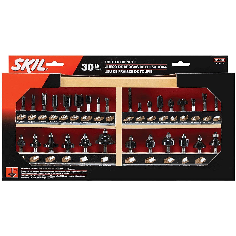 Skil 91030 Carbide Router Bit Set 30 Piece Lowes 49 Good Deal If You Just Scored The Dewalt Router 1 4 Shanks Router Bits Router Bit Set Router