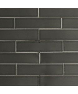 Black Subway Tile ceramic subway tile carbon gray | modwalls designer tile
