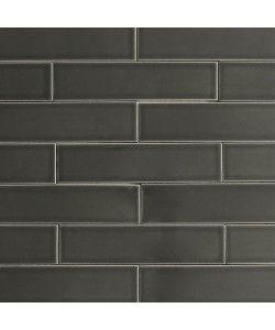Ceramic Subway Tile Carbon Gray Modwalls Designer