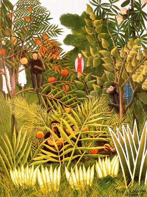 Douanier Rousseau - Jungles | Henri rousseau, Comment peindre et Inspiration art