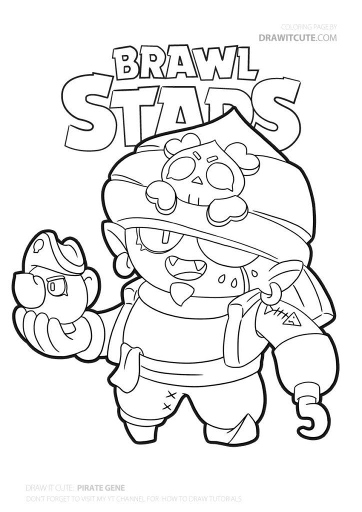 Pirate Gene Brawl Stars Coloring Page Color For Fun Brawlstarsgame Brawlstarskins Brawlstarsglobal B Boyama Kitaplari Boyama Sayfalari Cizilecek Seyler