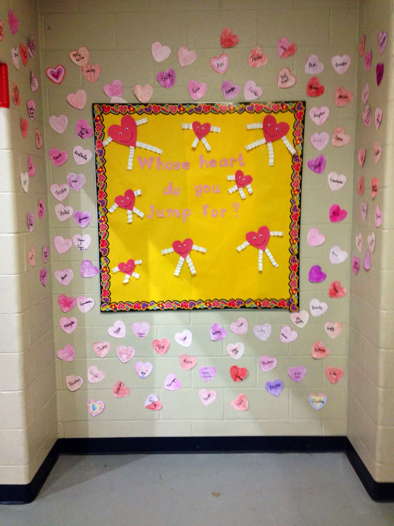 Physical Education February Bulletin Board Jump Rope For