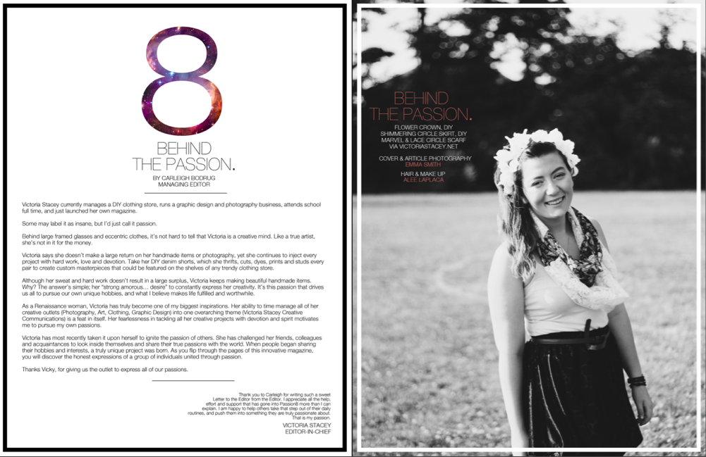 Magazine Letter from the Editor - Photo by Emma Smith, Layout by ...
