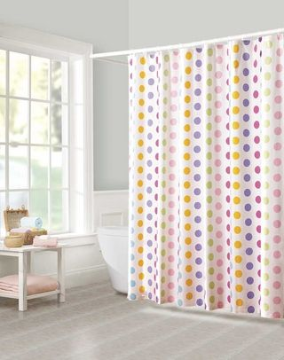 This is so you! Polka dot shower curtain | For the Home | Pinterest