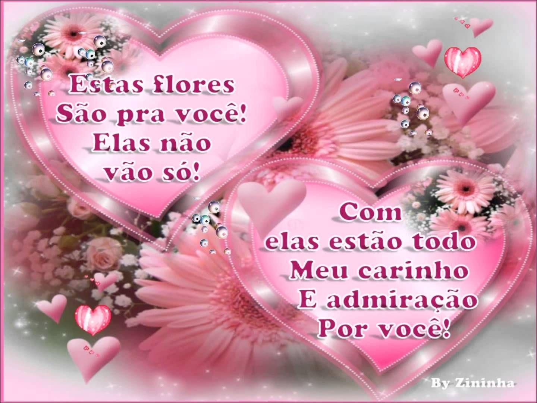 Bom Domingo Pra Você Mensagem: Flores E Meu Carinho, Pra Você