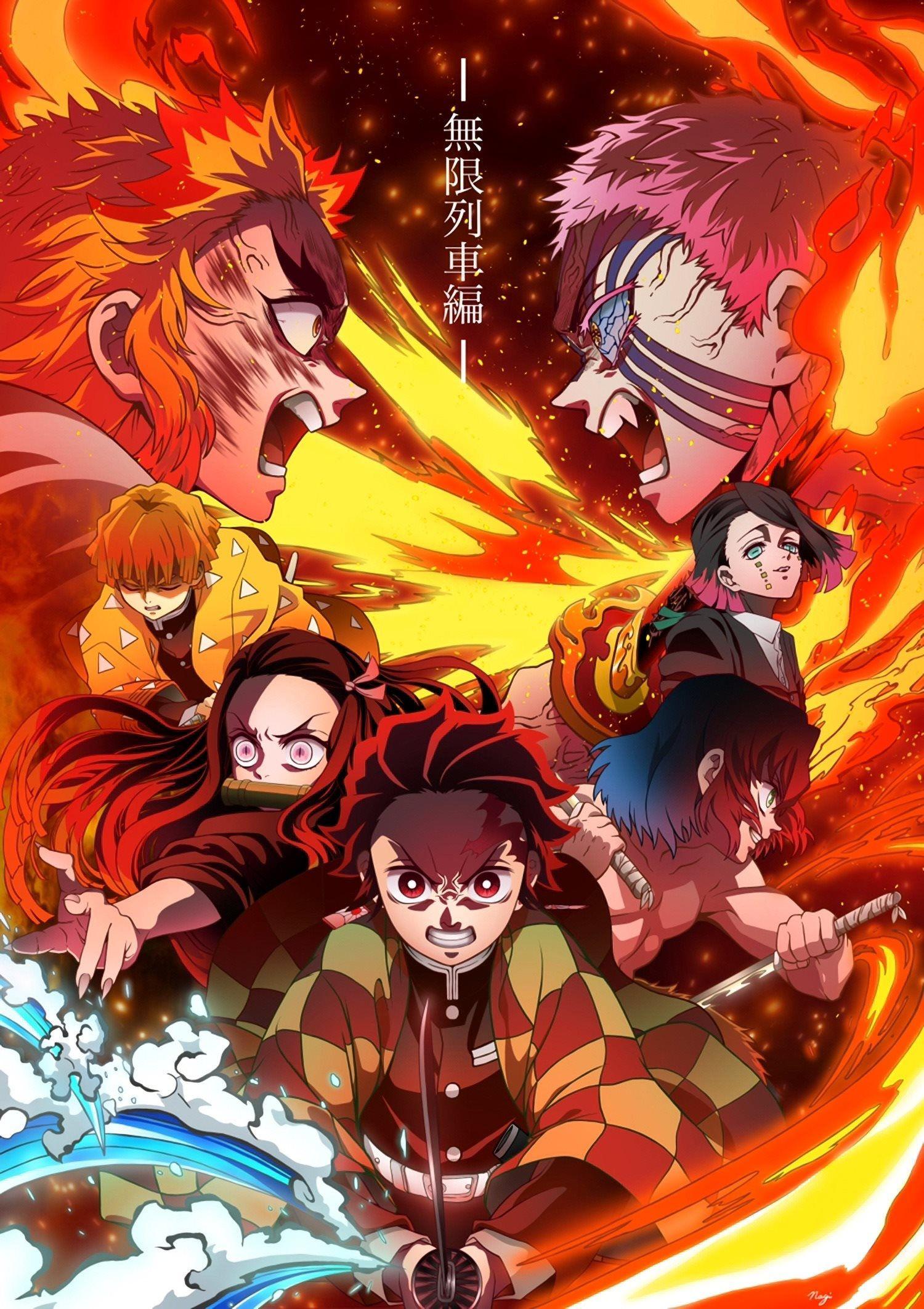 Kimetsu No Yaiba Wallpaper Infinity Train Movie Demon Slayer Wallpaper Infinity Train Movie Anime Demon Slayer Anime