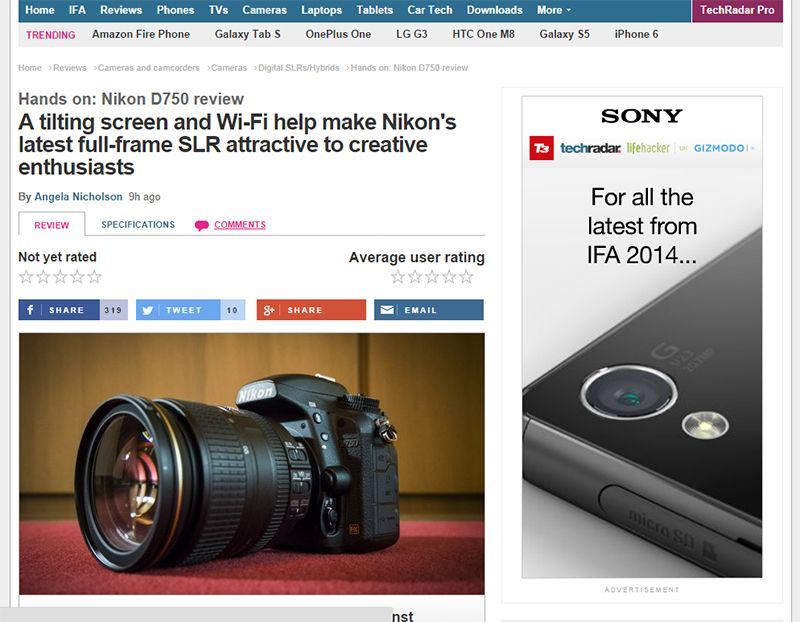 Read the best reviews from around the web of the new Nikon D750 http ...
