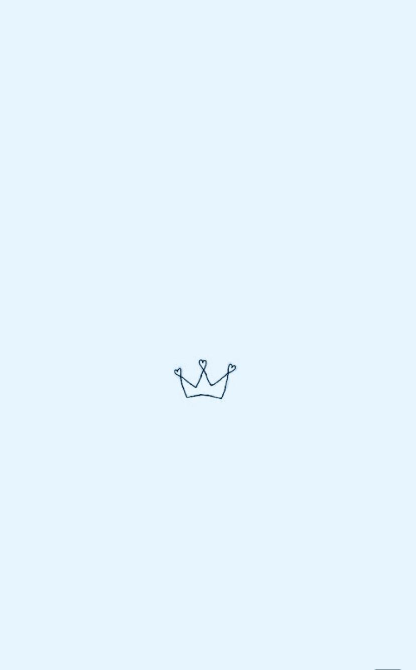 Gorgeous Logo Icon Babyblue Aesthetic Crown Blue Beautiful Screensaver Backgr Blue Wallpaper Iphone Iphone Background Wallpaper Wallpaper Iphone Cute