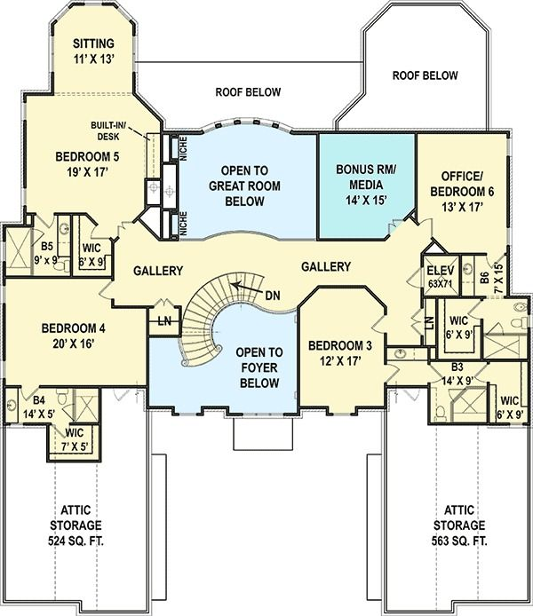 Plan 12278jl Six Bedroom Luxury Chateau House Plans Country Style House Plans Floor Plans