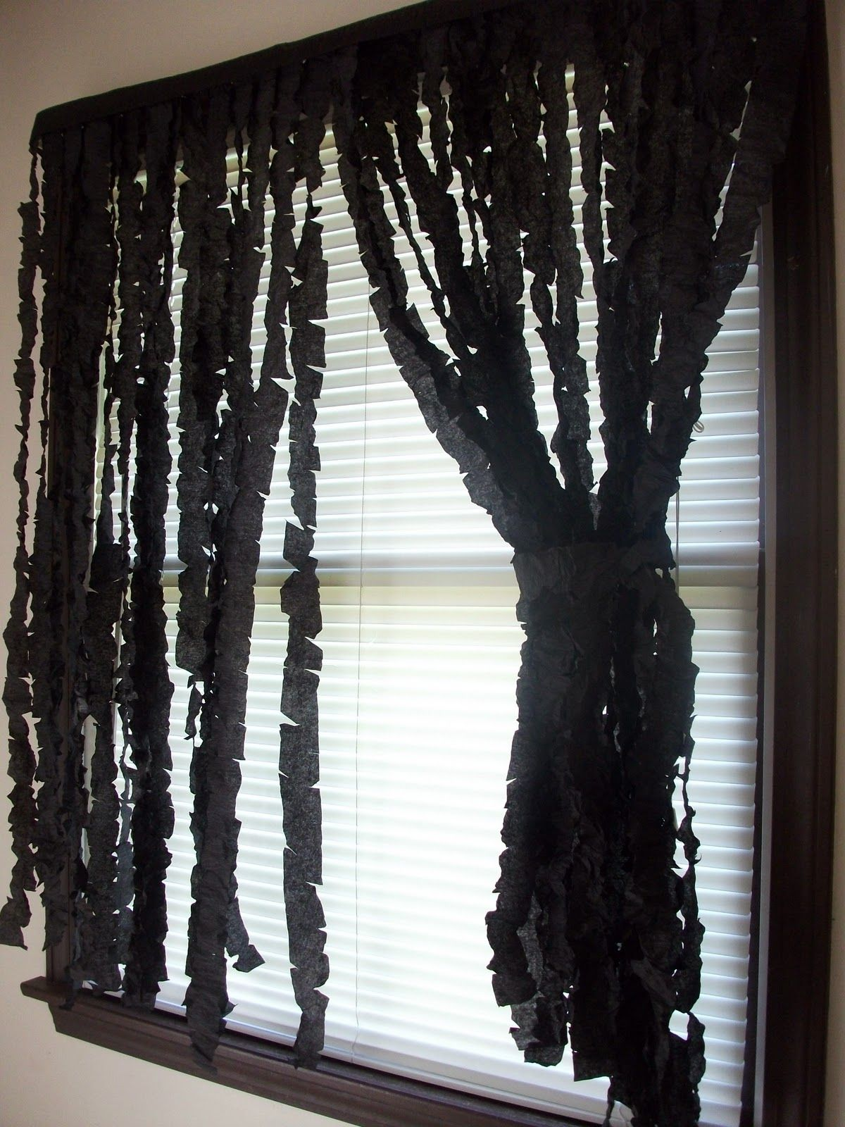 Window decor for halloween  diy spooky curtain diy halloween decorations decorate decor