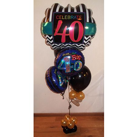 40th Budget Birthday Balloon Bouquet Same Day Delivery In Dallas TX By Balloonsandmoregifts Bouquets Also Learnballoondecoratingtx